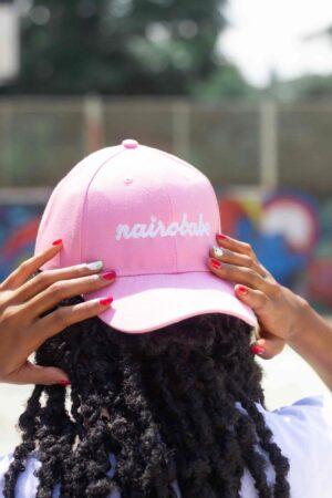 nairobabe pink cap