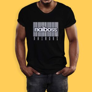Nairobi t-shirt brands - naiboss barcode black